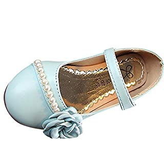 IGEMY- Jelly Shoes Girls, Baby Children Kids Girls Floral Pearls Princess Shoe Casual Sneaker Single Shoes (3-3.5 Years, Blue)