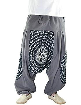 virblatt Haremshose mit hochwertigem Mandala Druck UNISEX Einheitsgröße M - XL Aladinhose mit bequemen Gummibund...