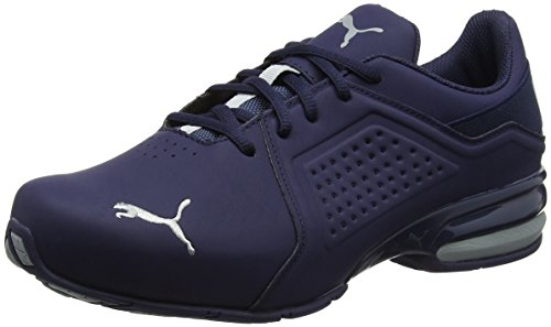 Cross-trainer Schuhe (Puma Herren Viz Runner Cross-Trainer, Blau (Peacoat-Quarry/03), 46 EU)