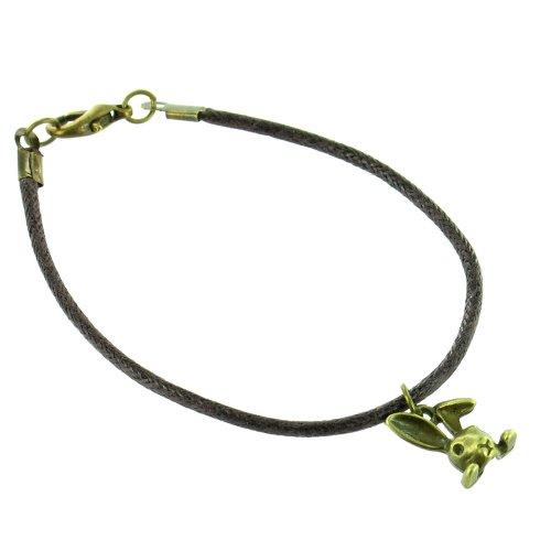 Ilovefj braccialetto mini coniglio marrone
