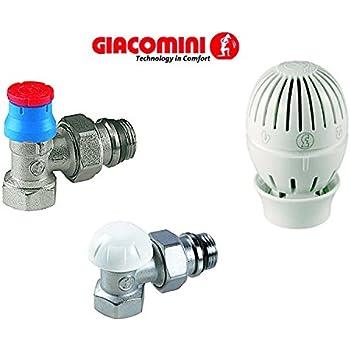 Giacomini R470 Tête Thermostatique À Soufflet Clip Clap: Amazon.Fr