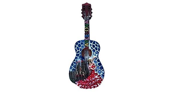 3D Barcelone Guitar Réfrigérateur Magnétique Autocollant Réfrigérateur Aimant Cuisine Décor