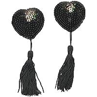 super sexy nipple tassels black sequins burlesque dancer bedroom fun
