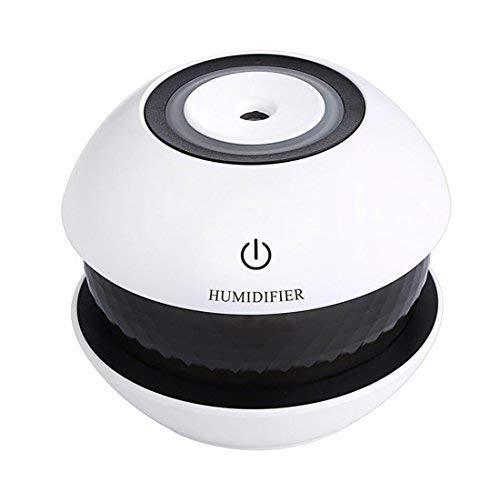 Furein Humidificador Difusor Ultrasónico Aromaterapia USB Portátil Luz LED 150ml 10x10x9cm (028 NEGRO)