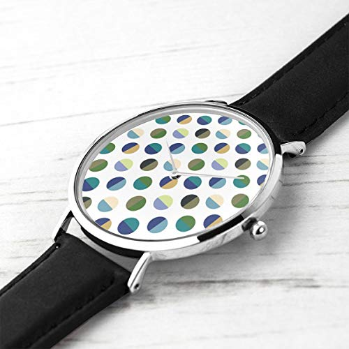 Unisex Ultra Thin Fashion Minimalistische Armbanduhren Colorblock Spot Flow Wasserdicht Quarz Beiläufige Uhr Mens Womens Colorblock Band