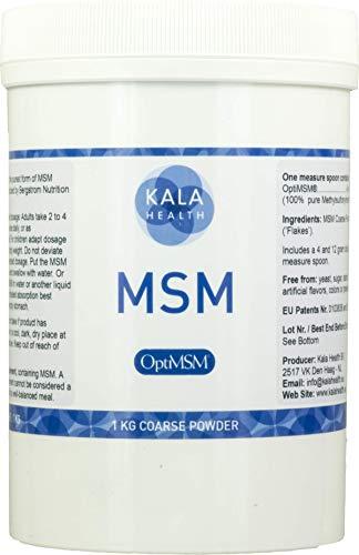 Kala Health - OptiMSM (Methylsulfonylmethane) MSM Powder Coarse Flakes (Crystals) 1000g, pure MSM Supplement, produced in the United States of America. by Kala Health -