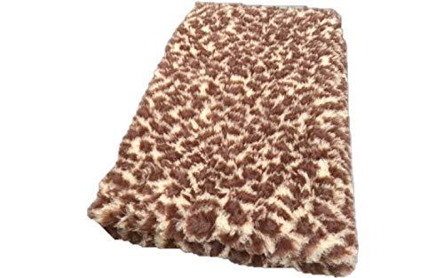 Topmast Vet Bed Hundedecke braun Leopard mit Motiven, waschbar, Doppelpack 2x150/100cm Schlafdecke, waschbar