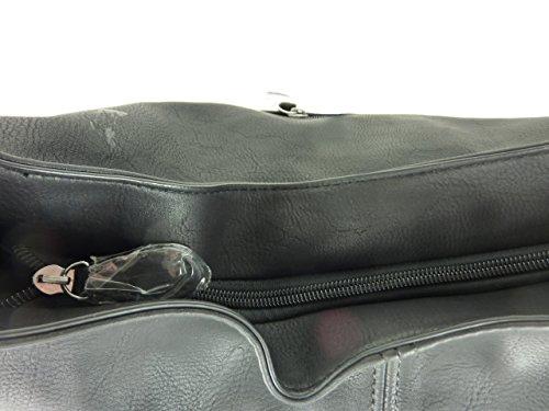 MAHEL A9050-3A 'Mima' große Damen Tasche, Umhängetasche in versch. Farben mit langen Trageriemen, 40x35x23 cm schwarz black