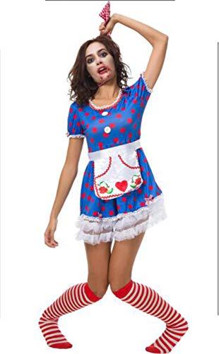 Duuozy Frauen Halloween Kostüm Zirkus Clown Kostüm Weiblichen Smoking Europäischen Und Amerikanischen Kostümen Maskerade Kleid,L (Clown-kostüm Weibliche Erwachsene)