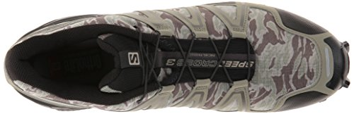 Salomon Speedcross 3, Chaussures de Running Compétition Homme Multicolore (Camo Titanium/Dark Titanium/Swamp)
