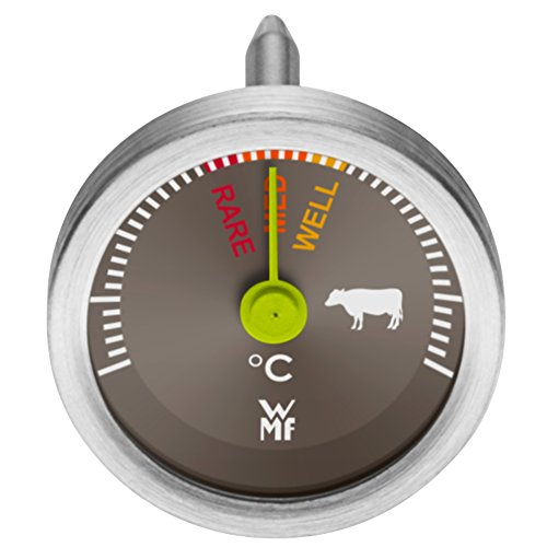 WMF Steakthermometer Scala Grillthermometer Sofortanzeige Sonde Edelstahl rostfrei Glas rare medium well done