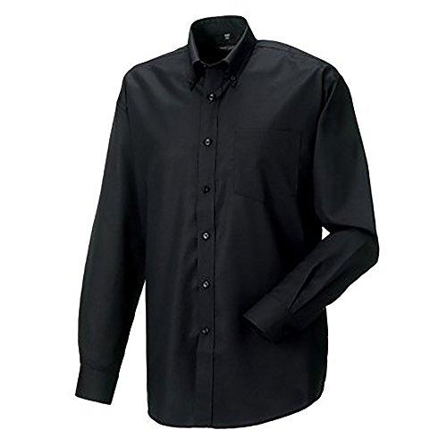 Chemise à manches longues Russell Collection pour homme Noir