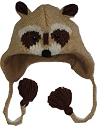 100% Wool Nepalese Hand Knitted Animal Hat - Regular Size
