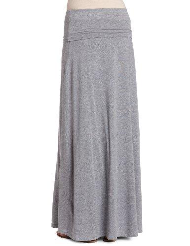 Splendid Damen, A-Linie, Rock, 2 in 1 Maxi Skirt/Dress Grau