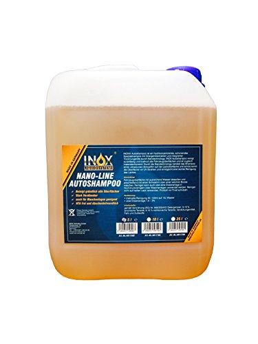 INOX® Nano Line Autoshampoo, hochwirksame Fahrzeug-Reinigung mit Abperleffekt - 5L