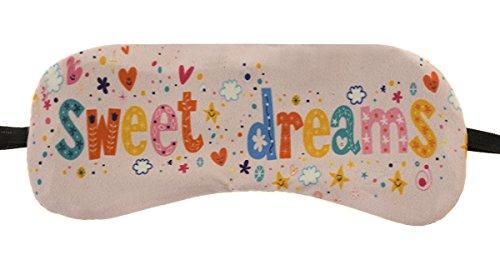 Schlafmaske Reise Relax Augen Abdeckung Bett Emoji Nickerchen Augenbinde Seine Muster Rosa süße Träume [042]