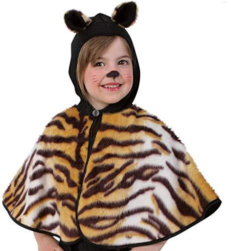 KarnevalsTeufel Kinderkostüm Cape Tisha Tiger-Kostüm Tiger-Cape Poncho Gr. ()