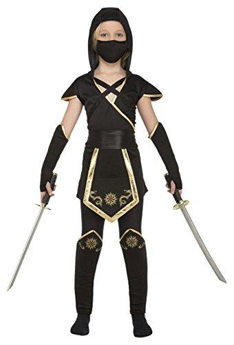 Imagen de my other me  disfraz de ninja para niña, 5 6 años, color negro viving costumes 204891