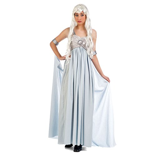 Elbenwald Sturmtochter Hochzeitskleid Mutter der Drachen Abendkleid Kostüm - L (Arya Stark Shirt Kostüm)