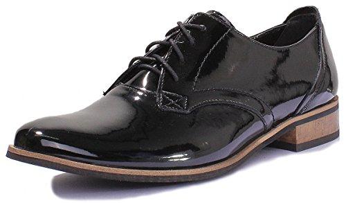 Justin Reece 3010, Scarpe stringate donna black patent