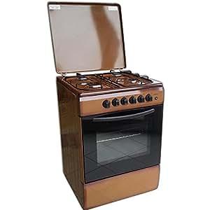 Cucina Con Forno A Gas 4 Fuochi 50x50 Marrone Grill