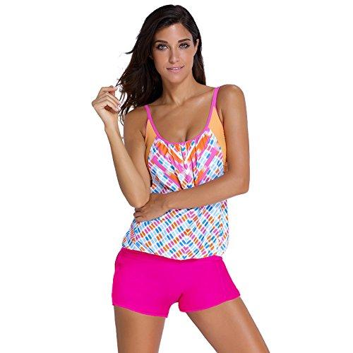 split - bikini xxl - ausdrucken - hose pink