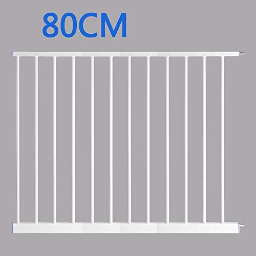 LLHYOO Hulan Kindersicherheit Türstange Verlängerung, Baby Stairway Tür Hund Zaun Pole 7/10/20/30/45 / 80CM Erweiterung (größe : 80cm) -