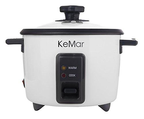 KeMar Kitchenware KRC-110 Reiskocher, 1,4 Liter, 500W, Weiß