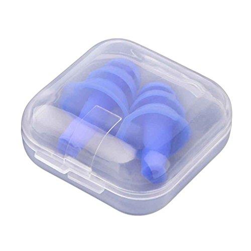 LUFA Ein Paar Silikon Ohrstöpsel Anti Noise Snore Ohrstöpsel Rauschunterdrückung für Studie