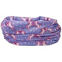 UNICORNS - PURPLE, PINK, HEARTS - RUFFNEK® Multifunctional scarf/neck warmer for Girls, Women- Bandana, Scarf, Beanie Hat