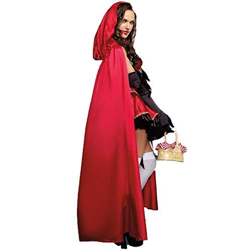 HalloweenDamen Rotkäppchen Kostüm Adult Halloween Cosplay Kleid + - Mantel Adult Kostüm