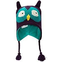 Mountain Warehouse Owl Kids Invierno Acosador Fleece Lined Mountain Ski Punto Hat Morado Talla única