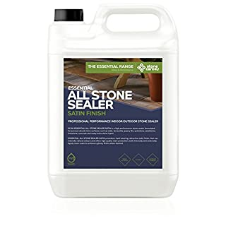 StoneCare 4u - Essential All Stone Sealer 'Satin' Finish - 5 Litre – Eco Friendly, Highly Effective 'Wet Look' Sealer for All Types of Natural Stone. Quick & Easy to Apply by Tiles, Floor & Paving