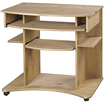 Beech Effect Curved Computer Desk Trolley Amazoncouk Kitchen