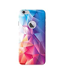 Be Awara Colorful Prism Designer Mobile Phone Case Back Cover For Apple iPhone 6/6S Round Logo Cut