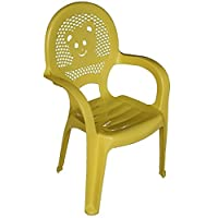 Resol Childrens Kids Garden Outdoor Plastic Chair - Yellow - Childs Furniture (1 chair)
