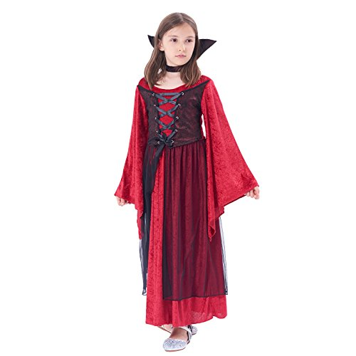 Ikali girls spiderella vampiro ragno costume da strega di halloween vestito per 3 – 12 anni