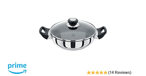 Judge J232 28 Centimeter Sauteuse Pan With Lid Stainless Steel Induction Ready