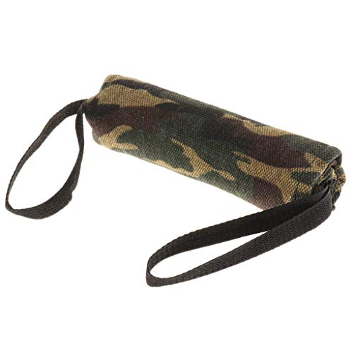 B Blesiya Leinwand Beißwurst Beissrolle Bringsel Dummy Hundespielzeug für Hunde Training - Camouflage, S