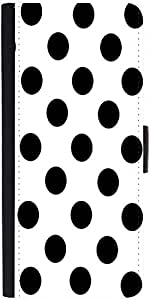 Snoogg White Polka Dot Designer Protective Flip Case Cover For Samsung Galaxy S6
