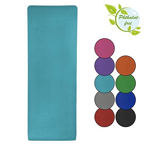BB Sport Esterilla colchoneta –de yoga – Yjuna 180 cm x 60 cm x 1.5 cm para fitness deportiva pilates gimnasia ejercicio, Color:Fresh Turquoise