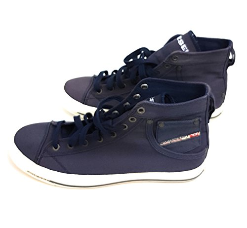 Diesel Sneaker da Uomo Mid Shoes Magnetic Exposure I Blu scuro