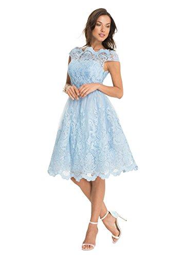 Chi Chi Rhiannon Kleid Skyblue Blau
