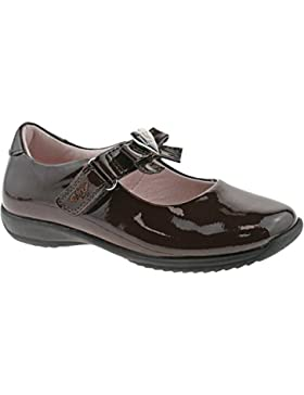 Lelli Kelly LK8000 (DJ01) Brown Patent Rachel School Dolly Shoes F Width-27 (UK 9)