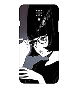 EPICCASE black lady Mobile Back Case Cover For LG X Power (Designer Case)