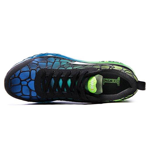 Onemix Scarpe da Ginnastica Running Sneakers Fitness Interior Uomo Sky Blue / Verde