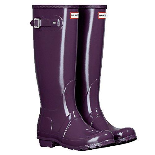 Hunter Original Tall Gloss W23616 Damen Gummistiefel Purple