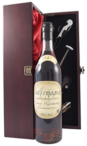Vieil Bas Veuve J Goudoulin Vintage Armagnac 1947 70cl in einer mit Seide ausgestatetten...