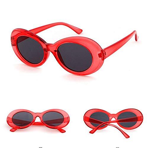 Wangwen Clout Goggle Kurt Cobains Ovale Sonnenbrille für Frauen Männer (Color : C14)