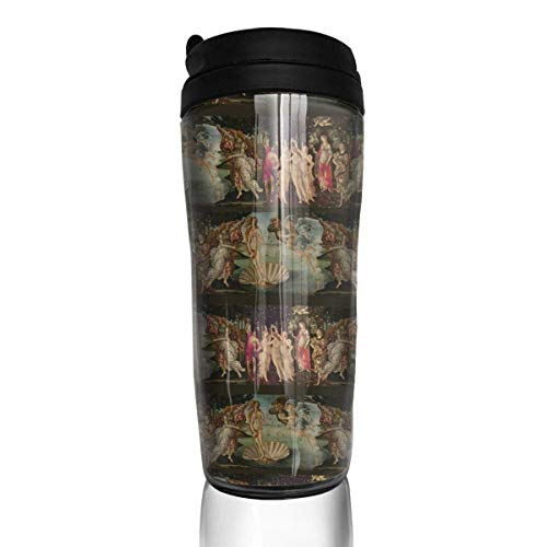 Travel Coffee Mug Botticelli Birth of Venus 12 Oz Spill Proof Flip Lid Water Bottle Environmental Protection Material ABS